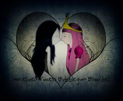 Marceline and Princess Bubblegum Bonnibel by KellCandido