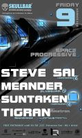 Space Progressive 04  party poster by SteliosQ