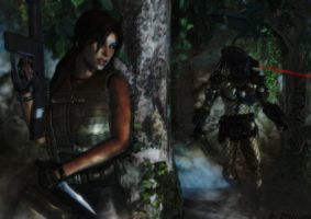 Tomb Raider wallpaper - Beauty Vs The Beast by ethaclane