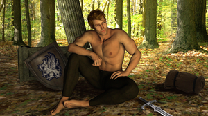 Alistair is awaiting you at camp by Kipperdee