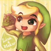 Wind Waker: Link and Makar by Zelbunnii