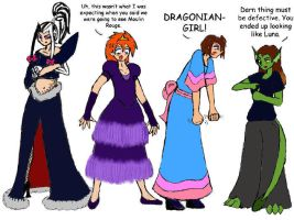 Deegans in Drag 1 by Dragoniangirl