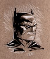 Batman Head Sketch by MaxAlanFuchs
