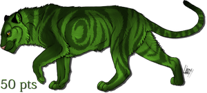 green tiger adopt by wolfhound56200