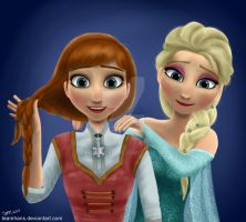 OUAT Anna and Elsa by teamhans