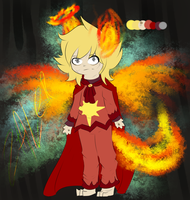 Flaming rooster man by xXShellBellXx