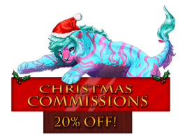 Christmas Commissions banner by XxBattleLionessxX