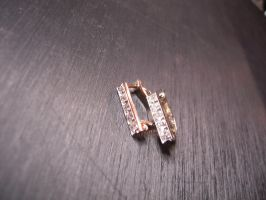 Platinum and diamond earring 2 by Debals