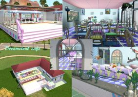 Sims: DreamCloud Cafe by bloodwolf8