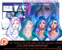 Lady Lake Tutorial pack .promo. by sakimichan