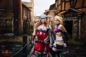 Diablo 3 cosplay Barbarian and Enchantress Eirena by ZyunkaMukhina