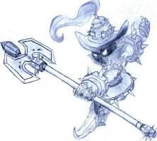 White Mage Veigar Drawing by Diablo0153