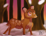 Prize- Bambi's Quiet Walk by Fawnadeer
