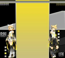 Rin and Len Kagamine Youtube 3.0 by AzusaRoseXD