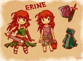 Legend of Zelda OC: Erine by tellie-tale