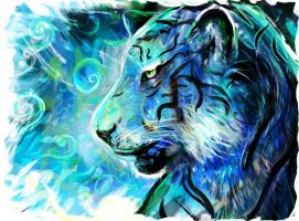 Project blue tiger by LouisDyer