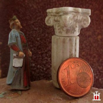 Marble column and capital (scale 1:50) by Wernerio