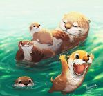 Otter's family trip by Linzu