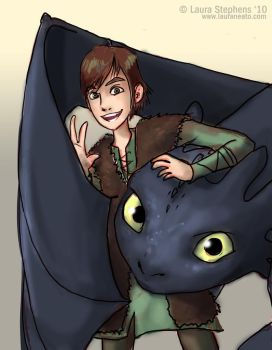 How To Dragon Train Yourself by lauraneato