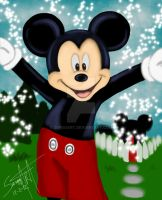 Mickey Mouse club house by SerggArt