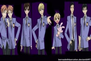 ouran high school host club by bernadethbarcelon