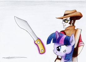 TF2 Sniper and Twilight Sparkles by AZ-Derped-Unicorn