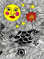 The sun the moon and everything in between by AnalieKate