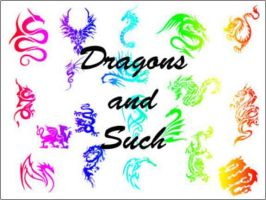 Silhouette Dragon Custom Shapes by vnnexpress