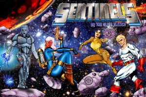 Sentinels ultraa-color poster by WayneReinagel