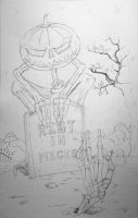 Rest In Pieces_pencil_WIP by SullenSquid