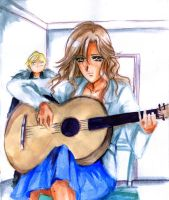 Shoko, Sho and guitar by Rikeza