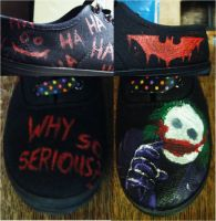 Joker Custom Shoes by KatKatDreamer95