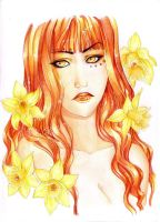 -  Avaricia with golden Jonquil - by ooneithoo