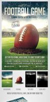 FootBall Game Flyer Template by saltshaker911