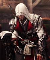 Ezio play dice by OrochimaruXDD