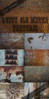 Rusty old metal textures by DiZa-74