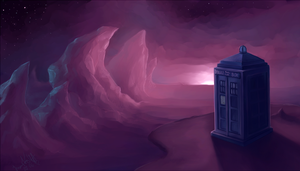 TARDIS on a new planet by YumikoUA