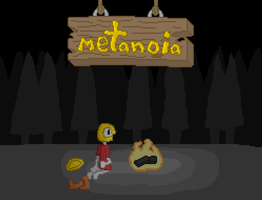 Metanoia title screen 2 - Mike in the forest by Oclictis1