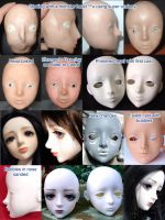 Bjd Nene head progress by runya-dim