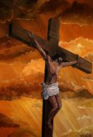 Crucifixion of Jesus Christ by Bonniemarie