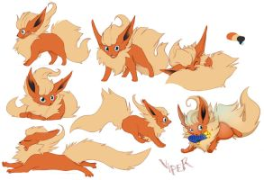 Viper the Flareon by greyanimebeast