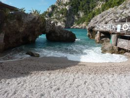 Strand von Capri / beach of capri by FireDragon7000