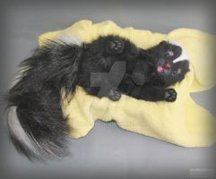 The skunk, a toy made of synthetic fur by hon-anim