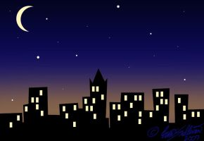 City Glow - Night by eriney