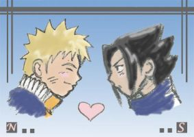 naruto and sasuke love by saorimaru