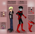 DP OC: Blade/ Alex Brown by pixiesera
