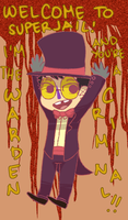 The Warden of Superjail by taiga-Ky