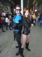 Nightwing + Black Canary back to back by Neo-Jackal