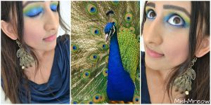 Peacock Makeup by MishMreow