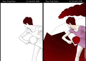 PING PONG LineArt _n_Vector by ArinThoughts